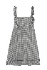 Marsha Dress in Black Houndstooth