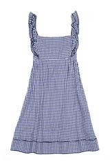 Marsha Dress in Blue Houndstooth