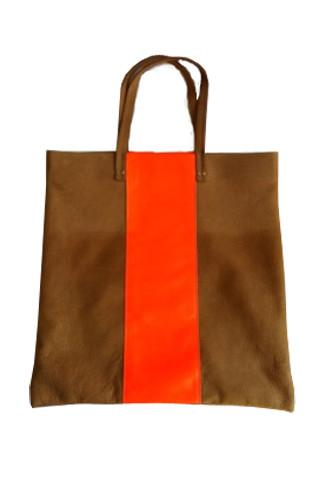 Claire Vivier Carryall Tote with Orange Stripe