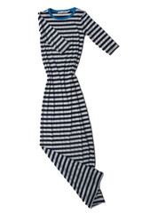 Charlotte Dress in Blue and White Stripe