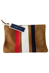 Claire Vivier Three Stripe Clutch in Red, White and Blue