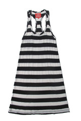 Lindsay Dress in Black and White Stripe