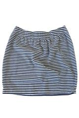 Meredith Skirt in Navy and White Thin Stripe