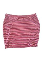 Meredith Skirt in Red and White Thin Stripe
