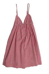Sandy Dress in Red and White Gingham