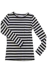 Suzanne Top in Black and White Regular Stripe